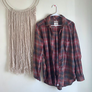 🌿 Boyfriend Plaid Top